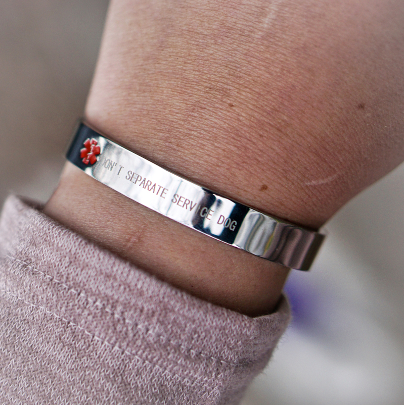 A close up of the bracelet.